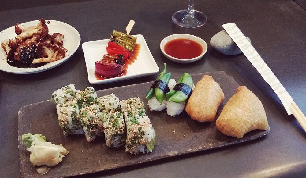 Sticks n' Sushi Tivoli Hotel Copenhagen // http://BananaBloom.com #vegan #sushi #sticksnsushi #Copenhagen #TivoliHotel