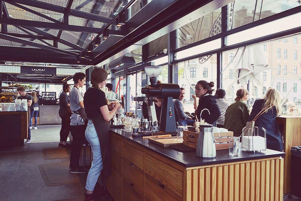 The Coffee Collective at Torvehallerne Copenhagen // http://BananaBloom.com #copenhagen #vegan #travel