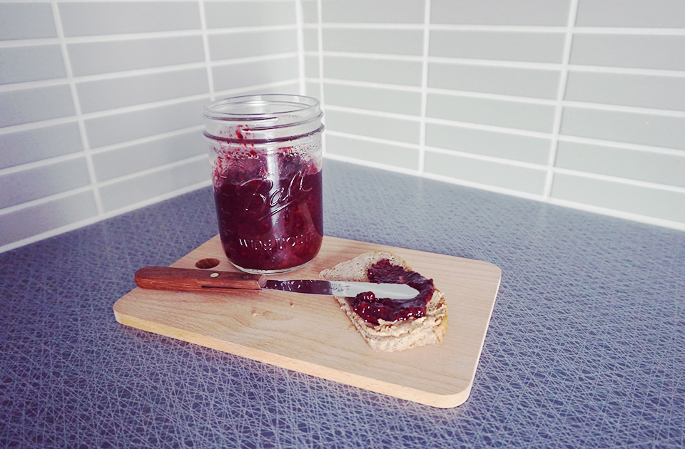 How to Make Chia Seed Jam in 5 Minutes // http://BananaBloom.com #chiaseedjam #recipe #baking