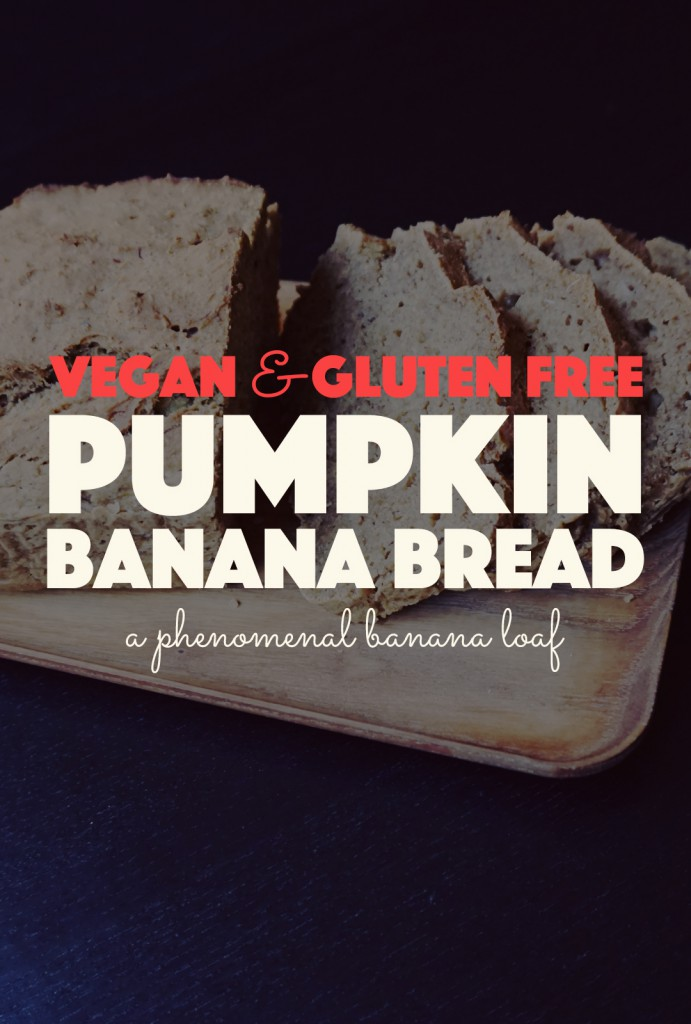 Pumpkin Banana Bread - Vegan & Gluten Free | http://BananaBloom.com