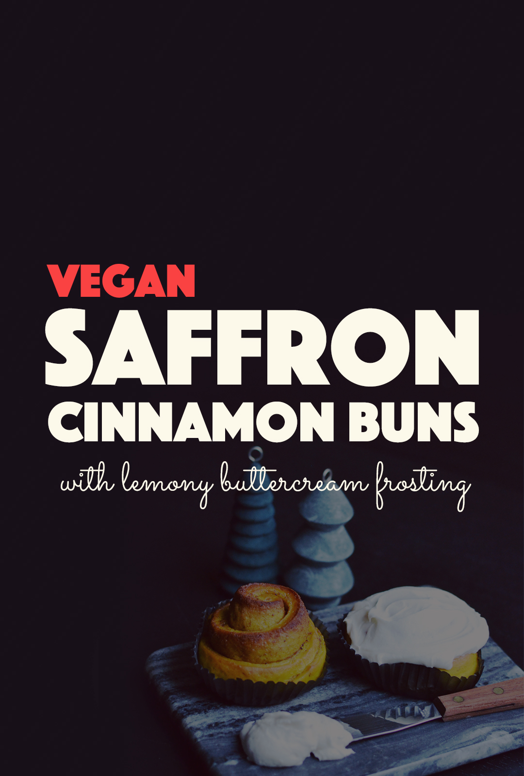 Vegan Saffron Buns with Buttercream Frosting | http://BananaBloom.com