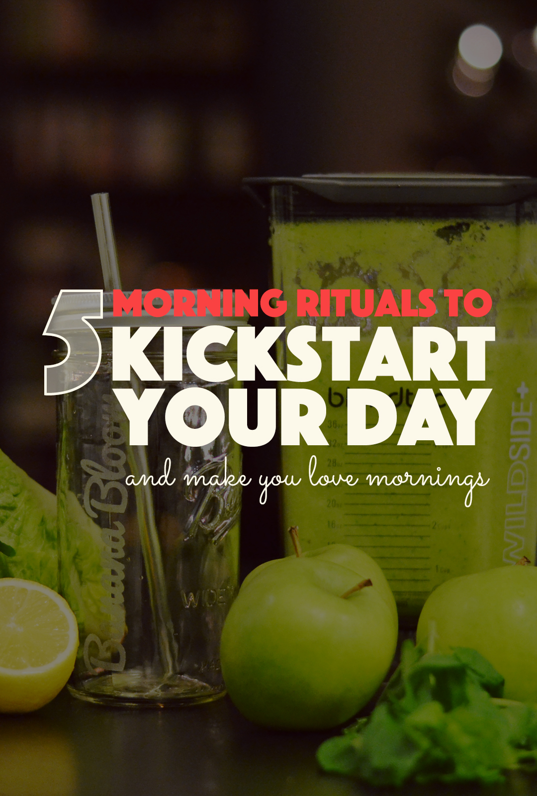 5 Morning Rituals Kickstart Day | http://BananaBloom.com #morning #rituals #kickstart #health