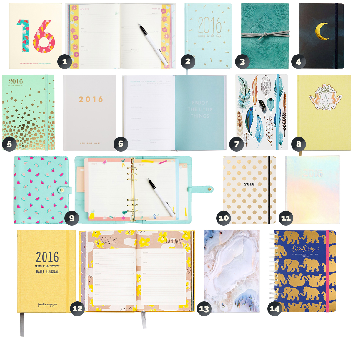 The 2016 Planner and Journal Guide |http://BananaBloom.com #stationary #planner #journal #diary #2016