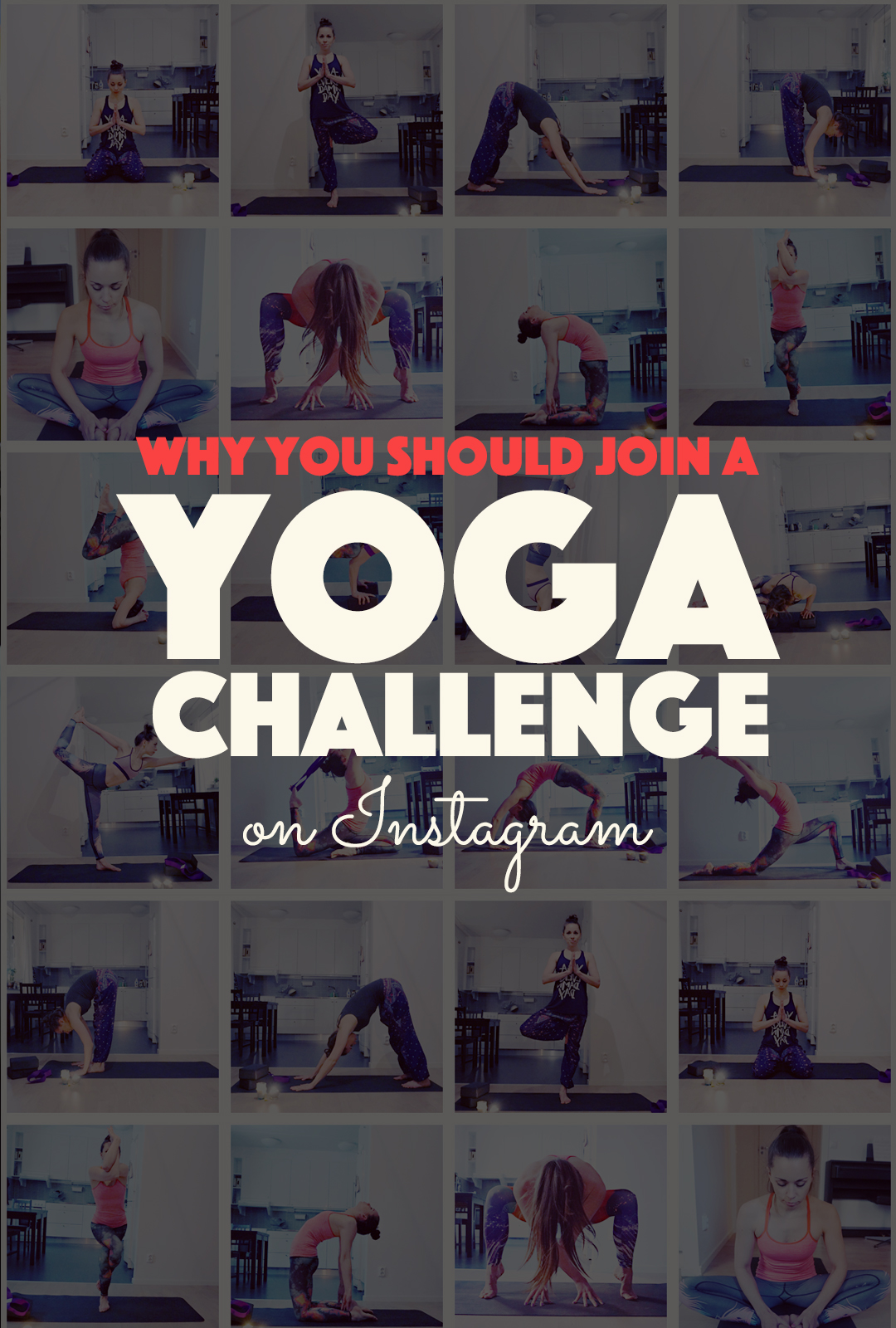 Why You Should Join a Yoga Challenge on Instagram | http://BananaBloom.com #yoga #yogachallenge #yogaeverydamnday