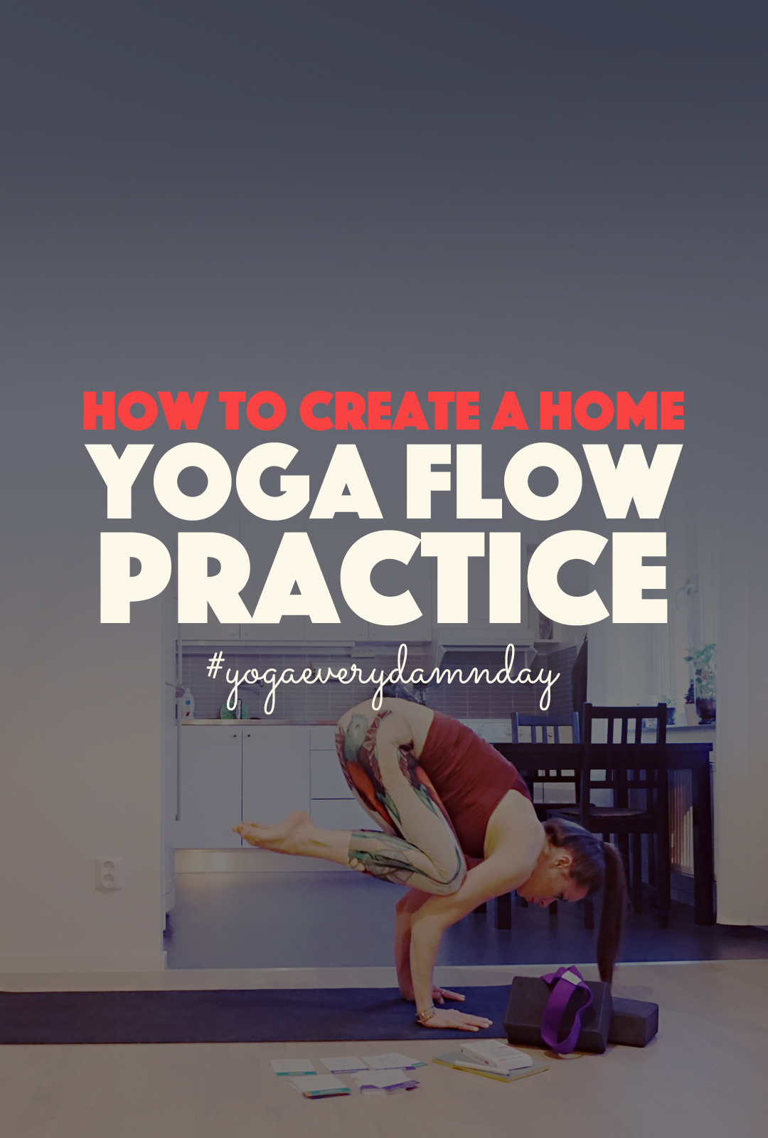 How to Create an At Home Yoga Flow Practice | http://BananaBloom.com #yogaflow #athomeyoga #yogapractice #yoga