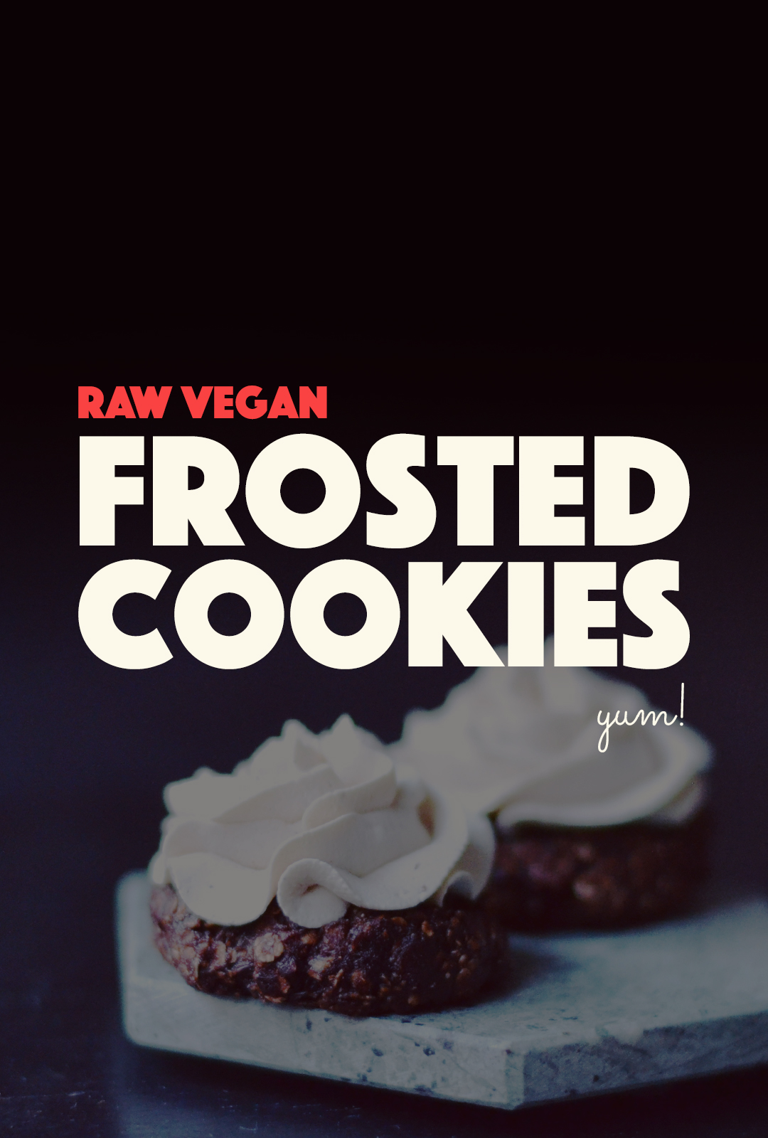 Raw Vegan Frosted Cookies | http://BananaBloom.com #rawfood #rawbaking #cookies #frosting