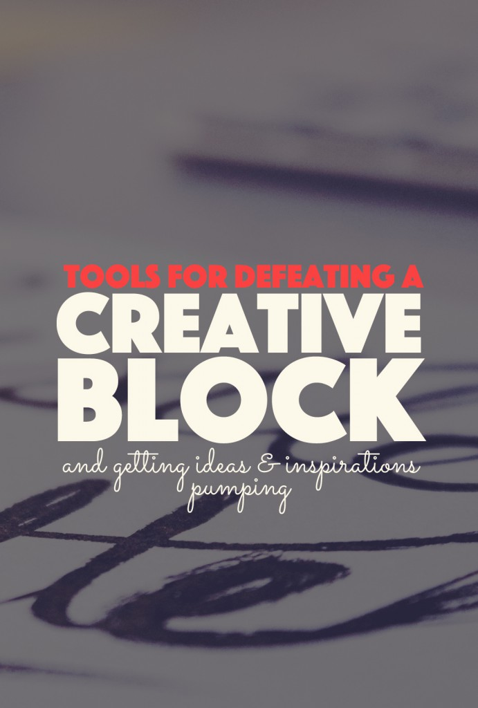 Tools for Defeating a Creative Block | http://BananaBloom.com #creativity #tools #writing #crafts #howto