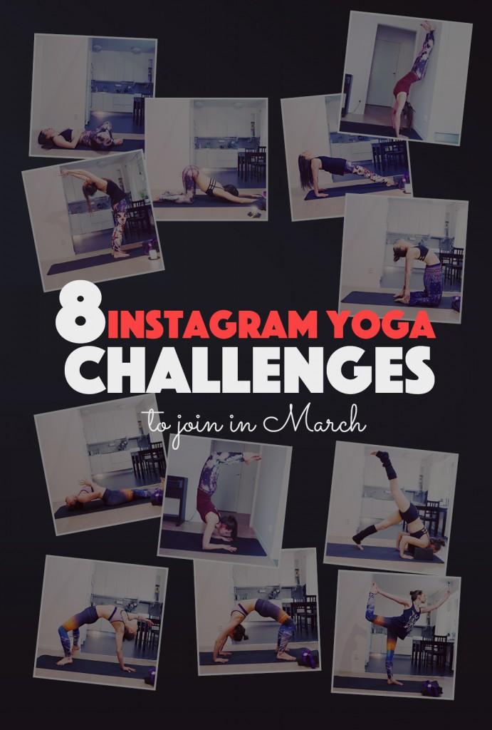 8 Instagram Yoga Challenges to Join in March | http://BananaBloom.com #yoga #instagram #yogaeverydamnday #yogagirl #yogachallenge