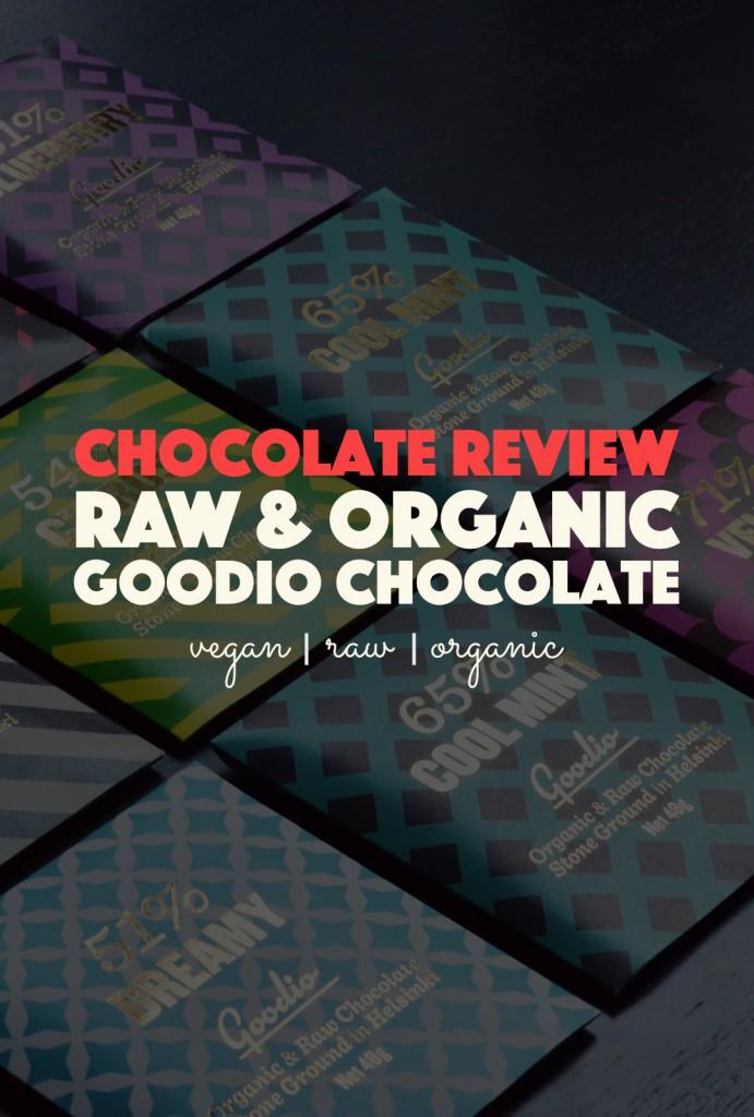 Goodio Raw & Organic Chocolate Review |http://BananaBloom.com #rawfood #rawchocolate #goodio