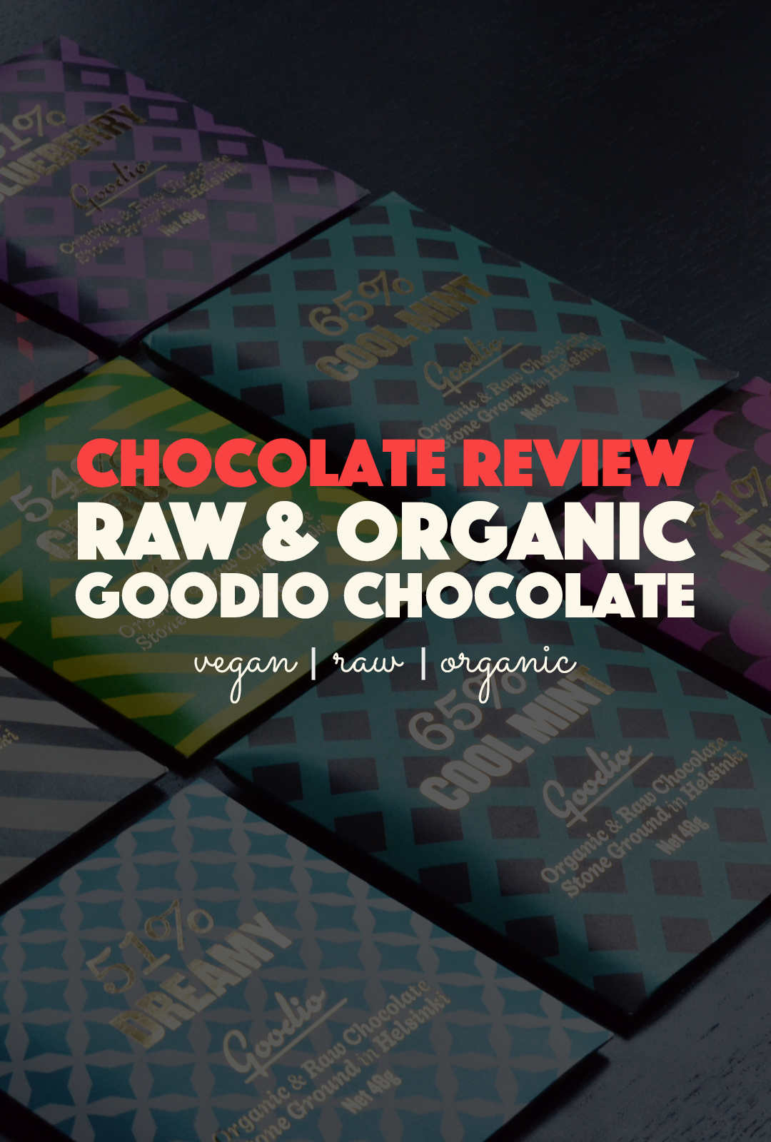 Goodio Raw & Organic Chocolate Review | http://BananaBloom.com #rawfood #rawchocolate #goodio