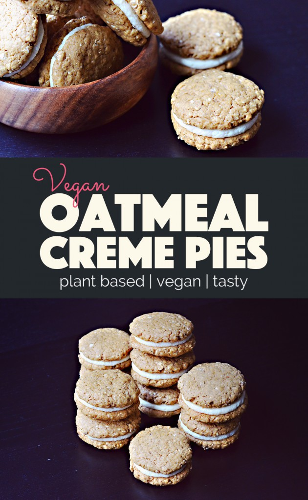 Vegan Oatmeal Creme Pies |http://BananaBloom.com