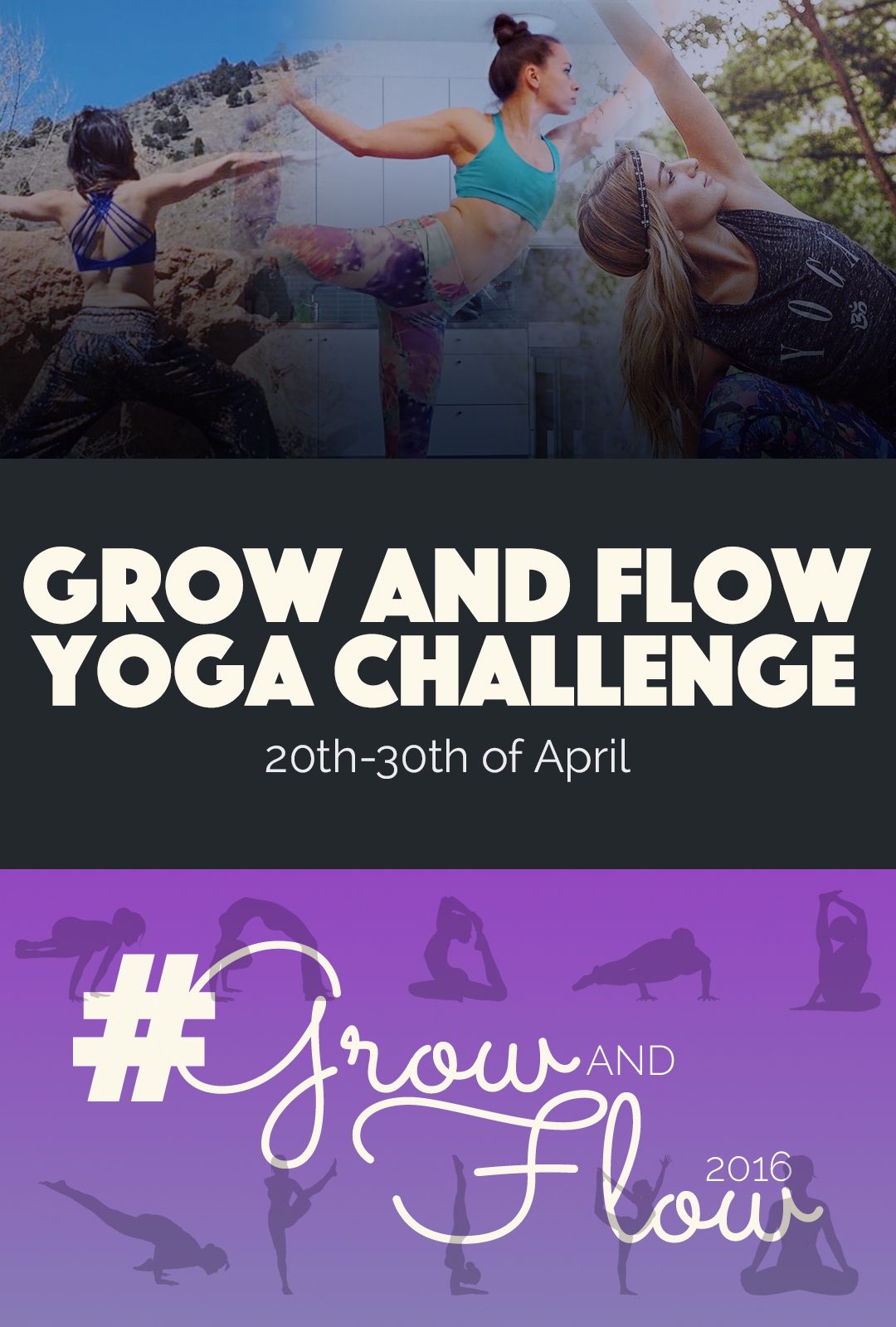 Grow and Flow Yoga Challenge | http://BananaBloom.com
