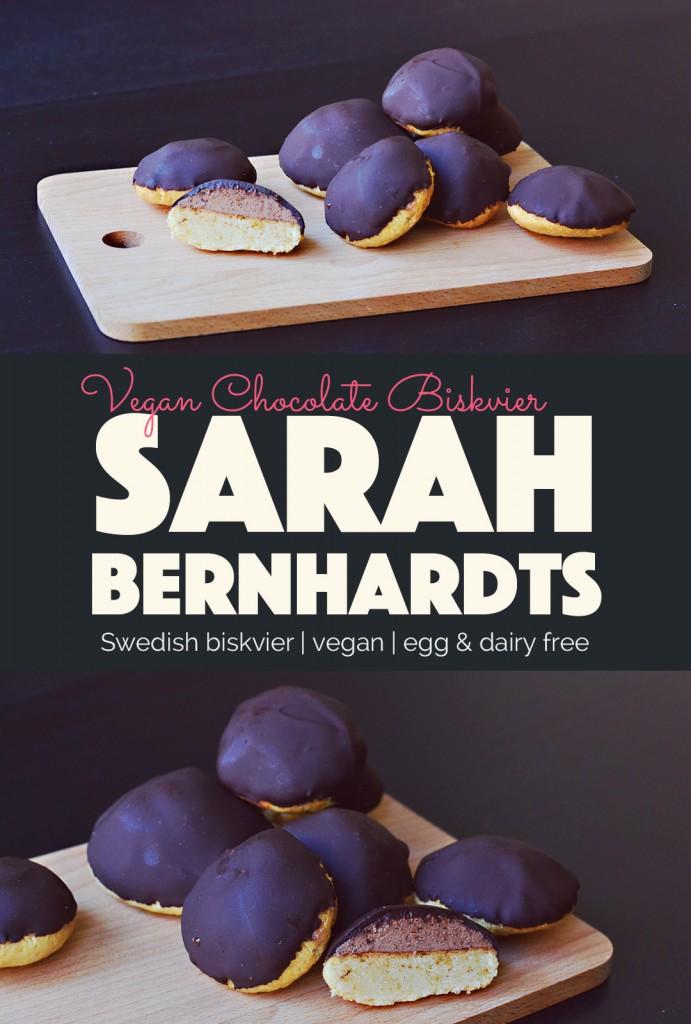 Vegan Biskvier Sarah Bernhardts |http://BananaBloom.com