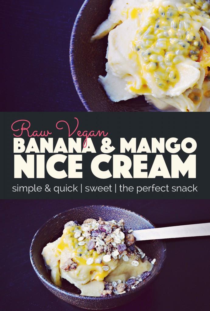 Banana Nice Cream - The Perfect Summer Snack |http://BananaBloom.com #nicecream #plantbased #vegan #icecream #summer #recipe