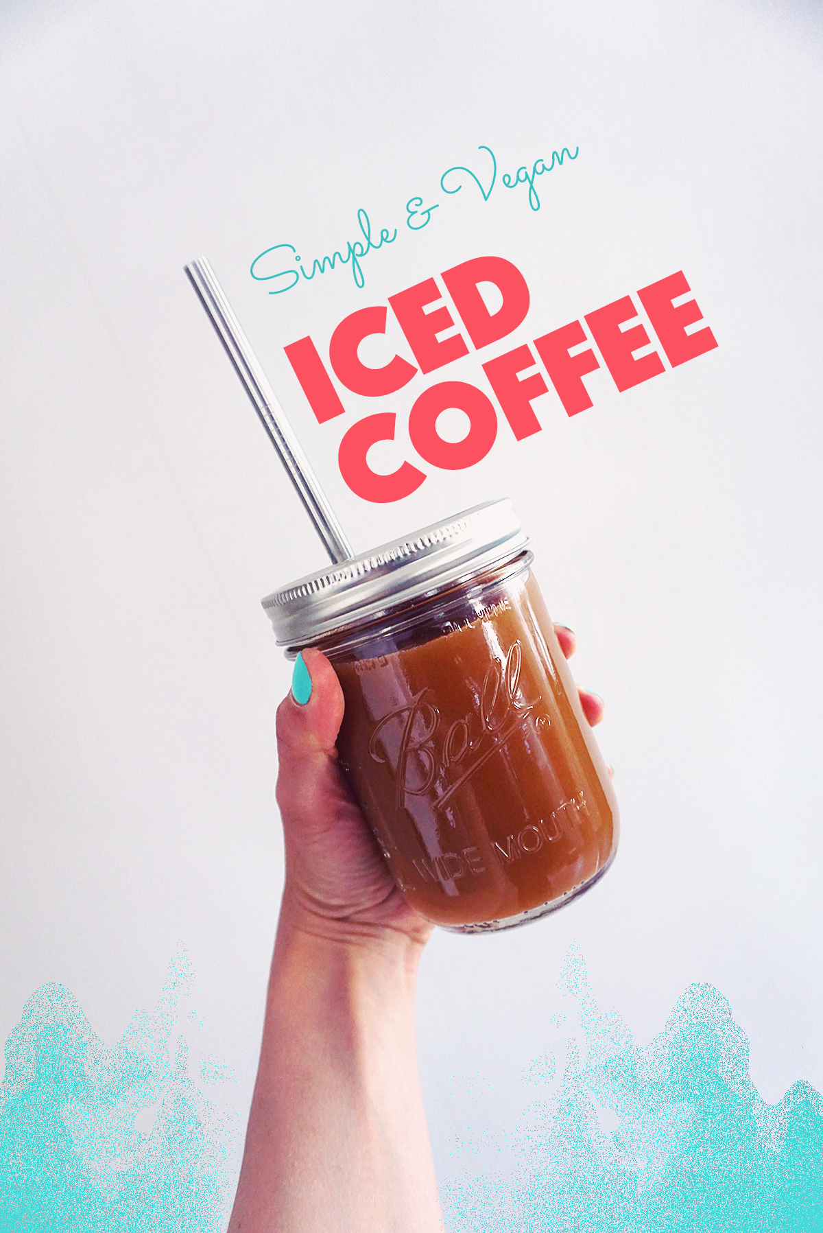 Iced Coffee | http://BananaBloom.com #icedcoffee #summer #vegan #coffee