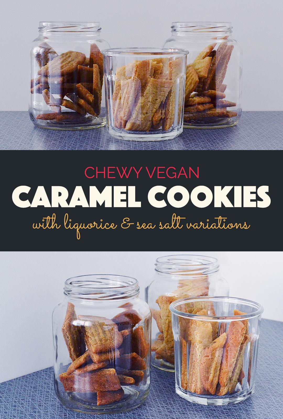 Chewy Caramel Cookies | http://BananaBloom.com #chewycaramelcookies #cookies #vegan #sirapskakor #plantbased