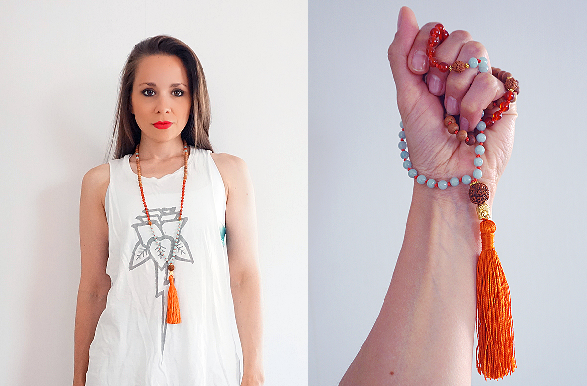 How to Use a Mala | http://BananaBloom.com #malabeads #yoga #mala #meditation