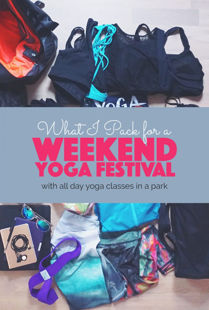 What I Pack for a Weekend Yoga Festival | http://BananaBloom.com #yoga #yogafestival #yogaclothes