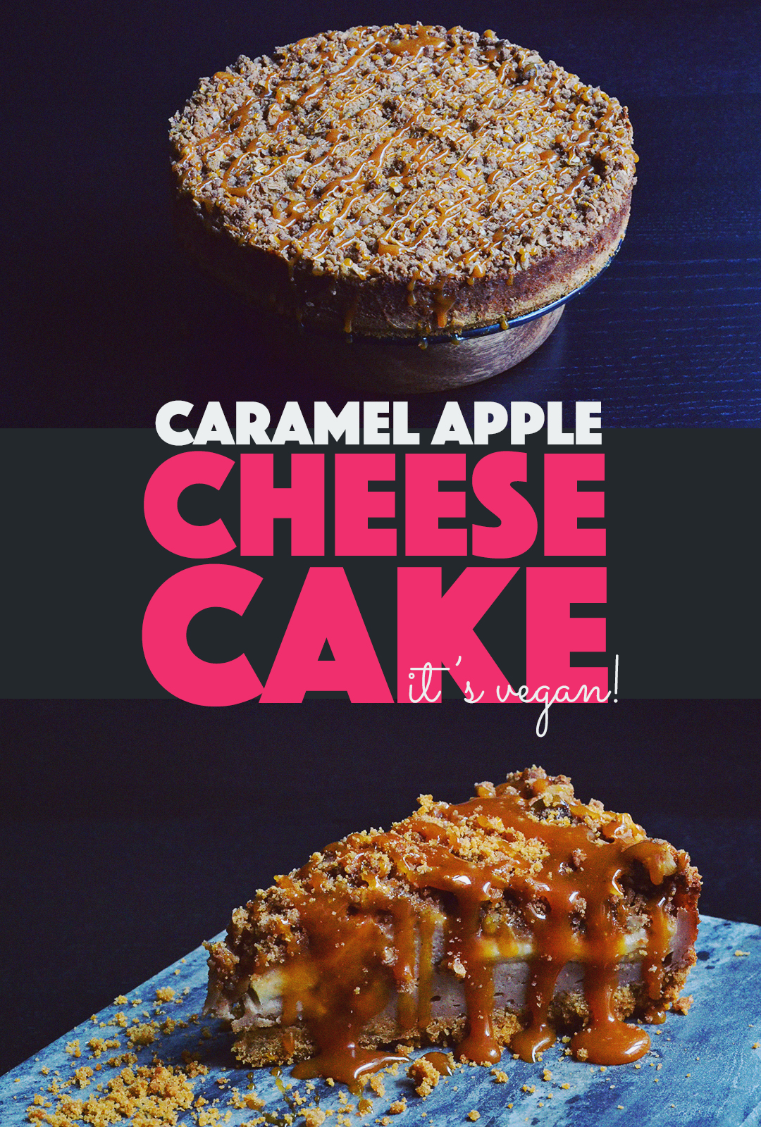 Caramel Apple Cheesecake | http://BananaBloom.com