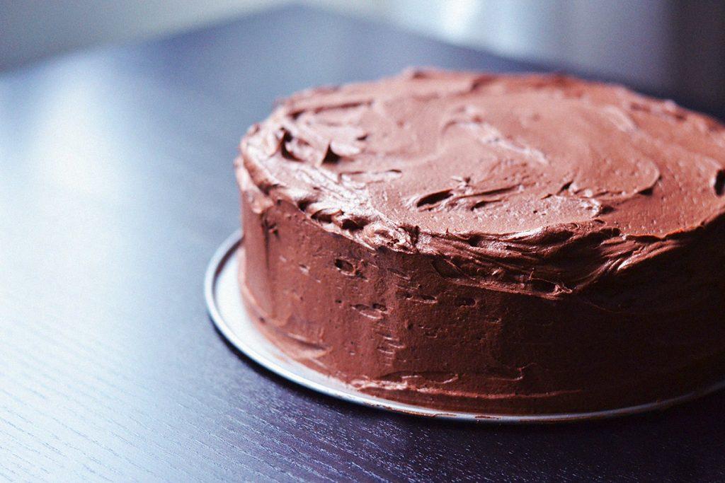 Decadent Vegan Double Chocolate Cake  http://BananaBloom.com