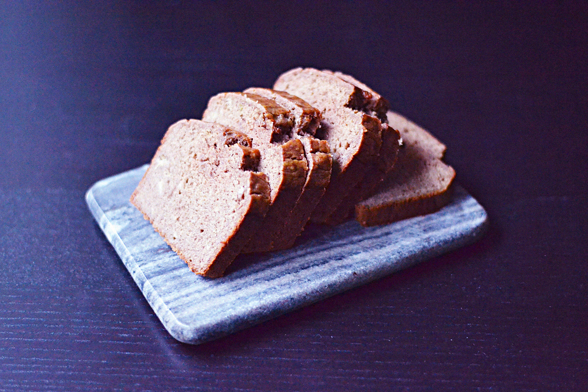 Gluten Free Vegan Banana Bread | http://BananaBloom.com