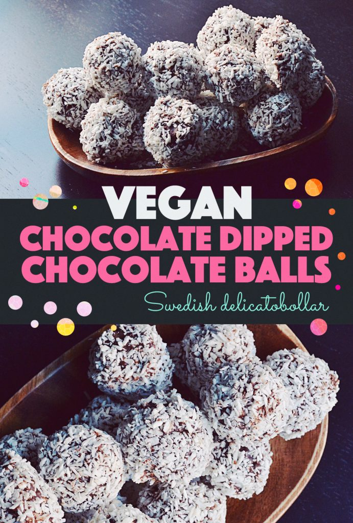 Chocolate Dipped Chocolate Balls  http://BananaBloom.com