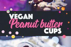 Easy 2-ingredient Vegan Peanut Butter Cups | http://BananaBloom.com