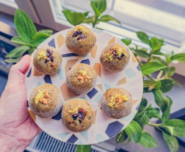 Golden Mylk Bliss Balls |http://BananaBloom.com