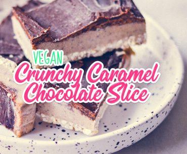 Crunchy Caramel Chocolate Slice |http://BananaBloom.com